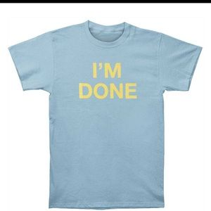 American apparel I'm done yellow graphic t-shirt